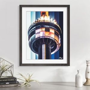 New original art stylized CN Tower Toronto